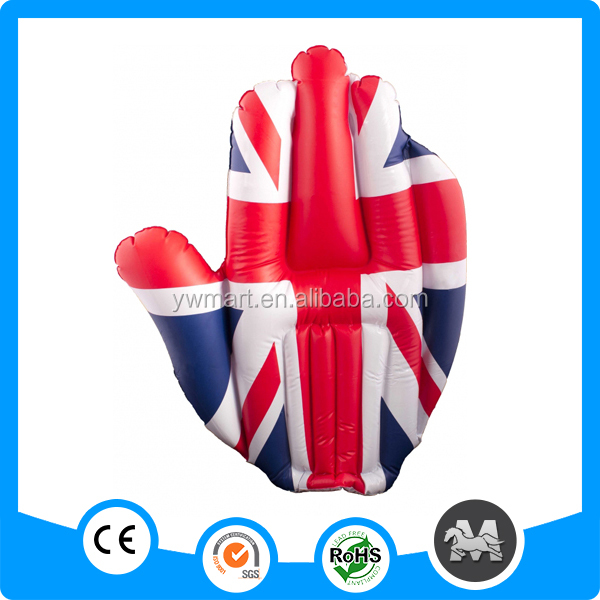 Custom inflatable hand, inflatable cheering hand, PVC advertising inflatable hand
