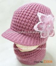 2012 fashion womens crochet hat for winter