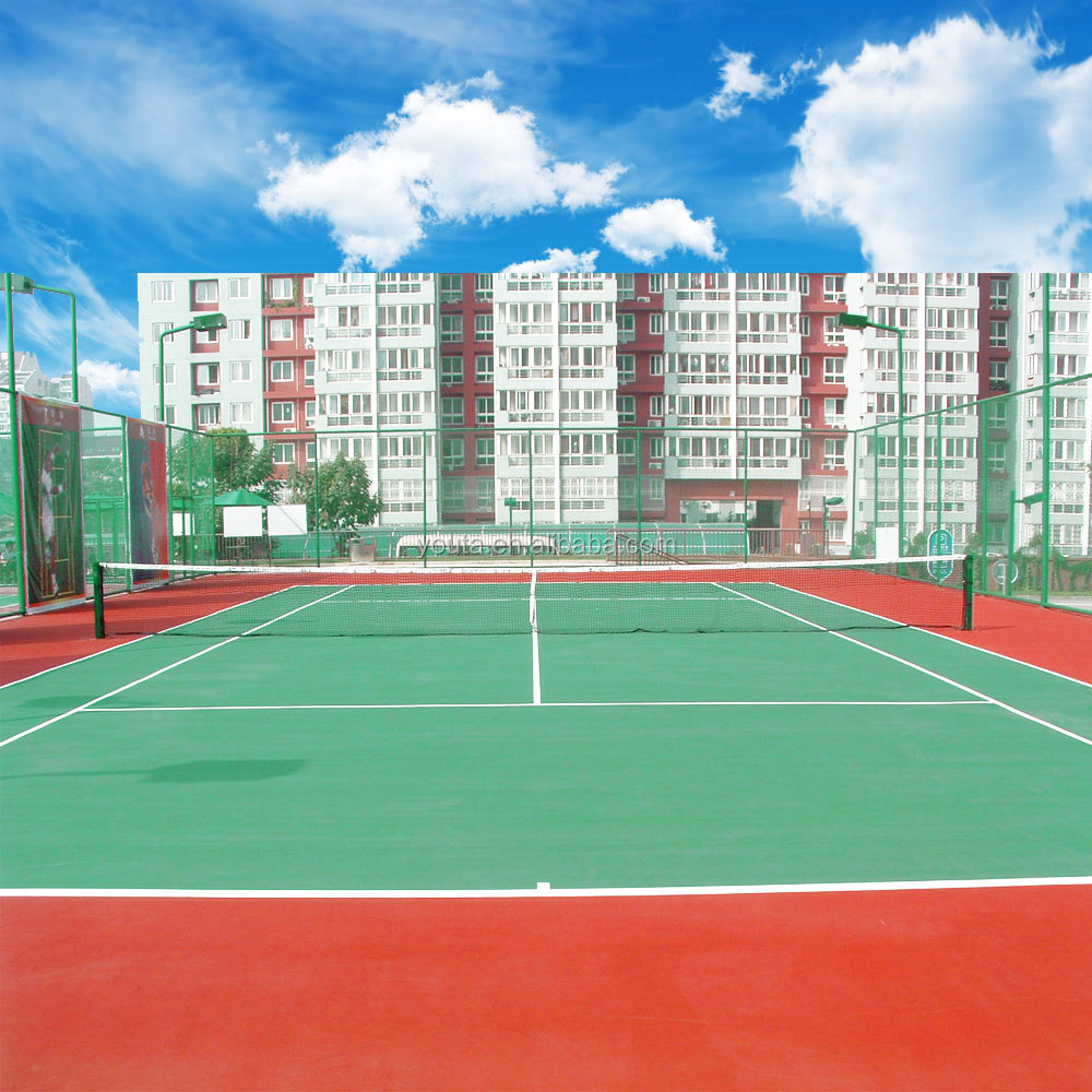Acrylic acid flooring for tennis court sports, safety sports flooring for children