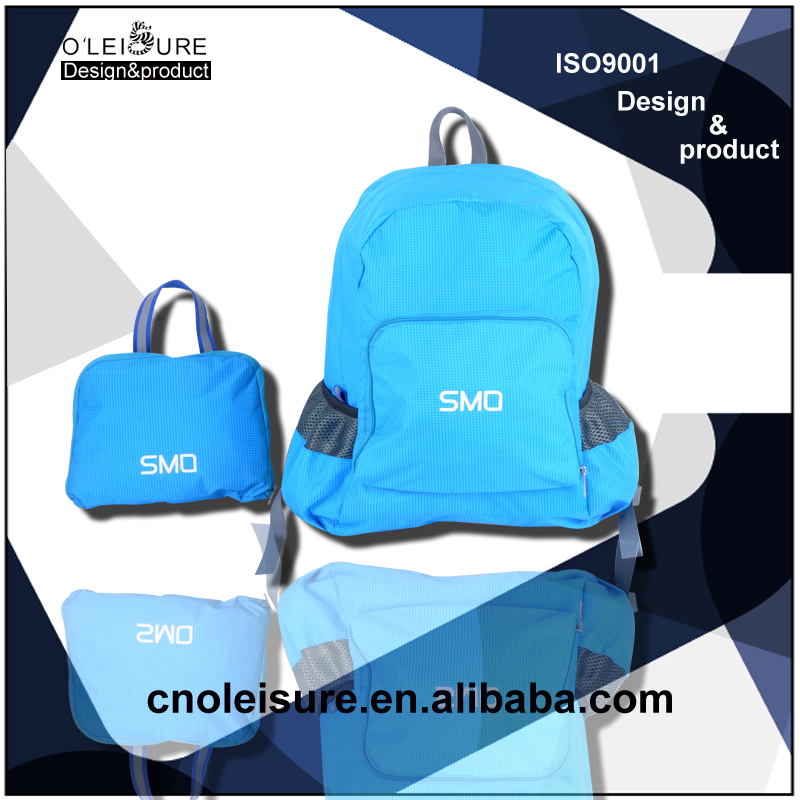 latest arrival design promational Alibaba china suppliers backpacks folding bag manufacturers foldable back bag for boys