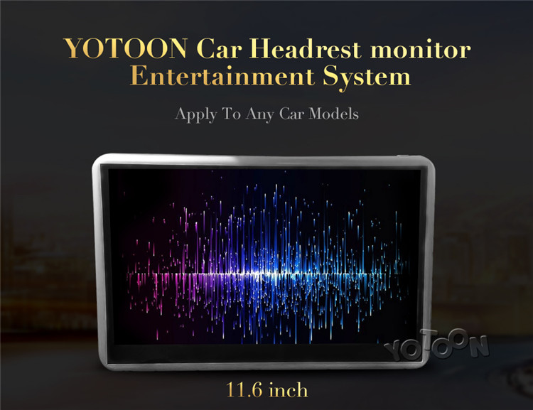11.6 inch Universal Car android headrest monitor with WiFi/TF/USB back seat