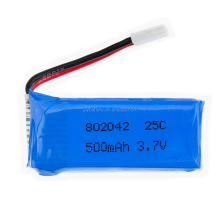 Rechargeable lipo 802042 3.7v 500mah 25C rc toy jet airplane li-ion polymer battery