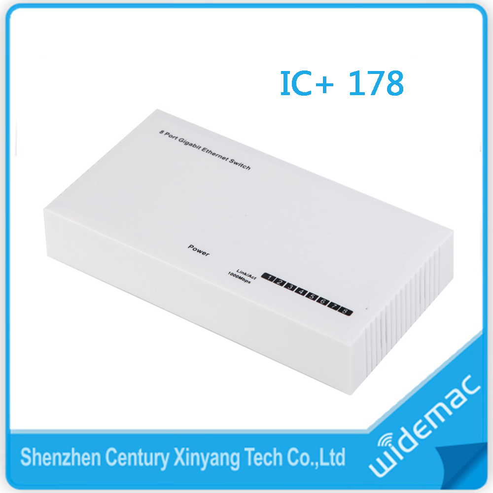 RJ45 Mini Design 8 Ports 10/100Mbps Gigabit Ethernet Switch for SOHO IC+ 178