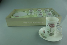 High Quality bulk tea cup and sauce with Pattern