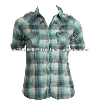 Women Cotton Shirts with Collar