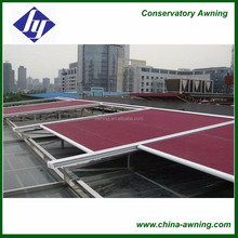 Aluminium retractable conservatory metal roof awning