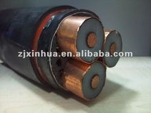 26/35KV Medium Voltage Copper Conductor XLPE Insulation PVC Sheath Steel Tape Armoured Power Cable