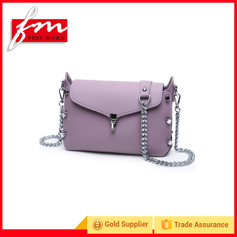 Fashion designer women's crossbody small purple shoulderbag