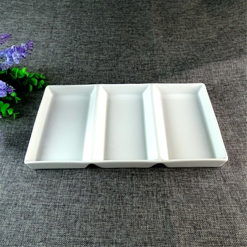 Wholesale Chaozhou 3 Oblong Home Goods Dinnerware White Porcelain Afternoon Tea Plate