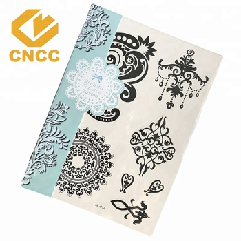 Newest Gold silver temporary metallic body tattoo