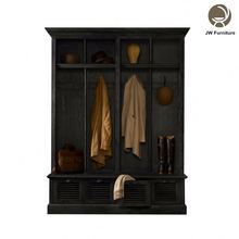 oak wood antique wardrobe hotel bedroom furniture,wood clothing storage wardrobe