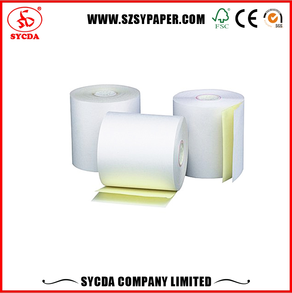 3-ply cash receipt paper roll carbonless computer paper for invoice printing