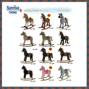 90*21*78cm Adorable ICTI and Sedex audit new design cartoon style plush rocking horse stuffed with foaming mould