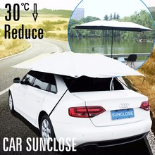 SUNCLOSE car sun protection car cover/folding garage car cover/awning materialcar cover inflatable hail proof car cover