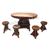 Home Decoration Root Carving Furniture Wooden Table And Stool