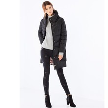 Hot sale top quality factory price plain dyed winter women down coat