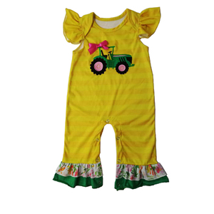 adorable children boutique clothes girls romper toddler organic cotton baby clothing