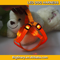 100pcs Top products led samll cat pubby dog harness light up in dark,glow dog harness,flashing Led Dog Harness pet DH-2504