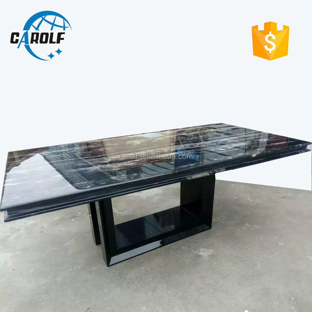 Promotional marble black dining <strong>table</strong> With the Best Quality