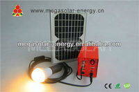mega 5W DC solar light build in 12V 4Ah battery,with 4 LED light bulbs,home use,chargere by sunlight