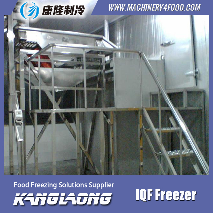 High Quality IQF Rice Fluidized Freezer With Low Price