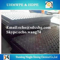 Heavy duty HDPE ground protection track mats/temporary grass protection carpet
