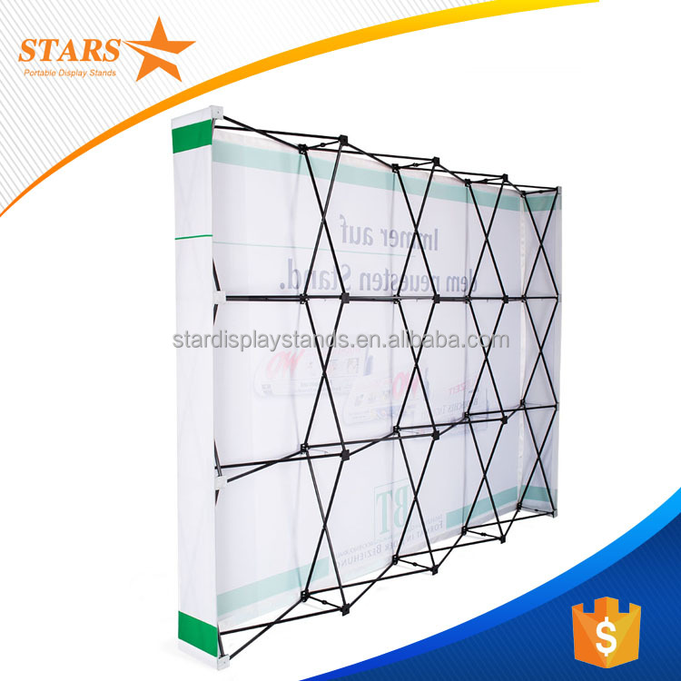 1.6cm Thick Metal Exhibition Booth Material / Display Pop Up Banner from China