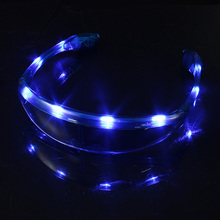 Brand New High Quality Flashing LED Space Light Up Sun Glasses Glow Rave Party Club Disco Gift Toy Blue