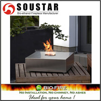 2016 1.2mm thick full stainless steel tabletop bio fireplace gel burner
