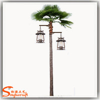 Wholesale cheap price fake led tree plastic palm light for outside
