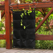 Wall-mounted Black Wall Planter Bag Felt Vertical Gardening Flower Planter Hanging Bags Grow Bags