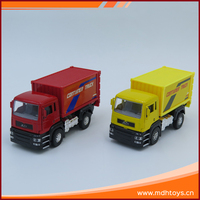 Kids pull back toy open the door 1:32 scale diecast model promotion trucks