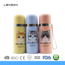 Cat logo Double Wall Vacuum Insulated Stainless Steel Water Bottle for Kids