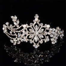 Bridal Snowflake Rhinestones Crystal Wedding Headband Tiara