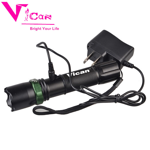 Rechargeable Police Flashlight with zoom function
