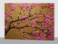 led canvas wall art flowers painting,light up beautiful flowers wall hanging picture