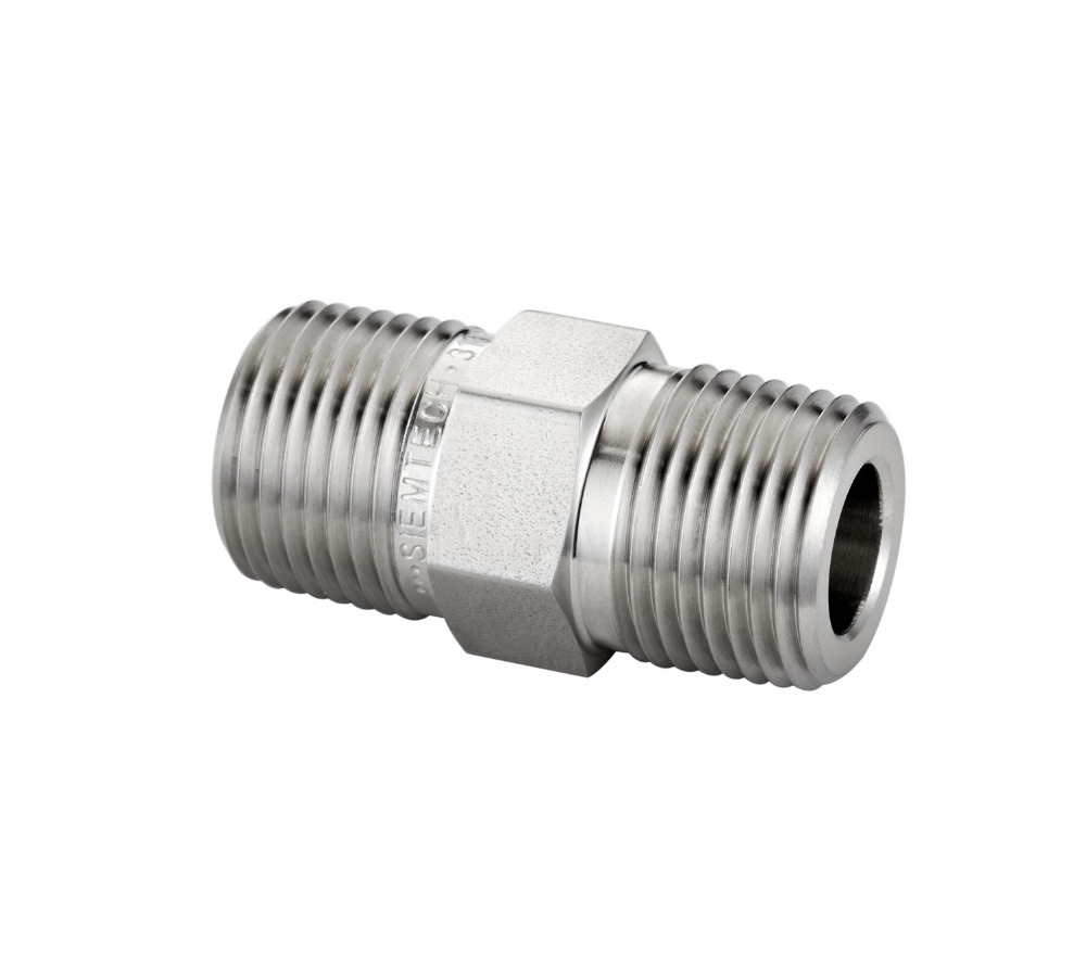 Hex Nipple, Precision Pipe Fitting, Screwed Pipe Fitting