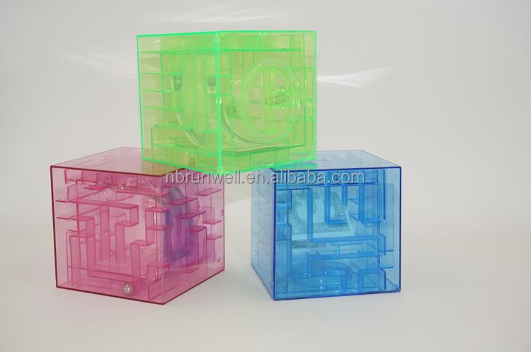 Brain teaser maze coin saving acrylic piggy bank buy for Maze coin bank