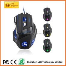 Accessori per computer LED lighing optical gaming mouse, moda laser mouse da gioco, 6D gioco wired mouse per computer