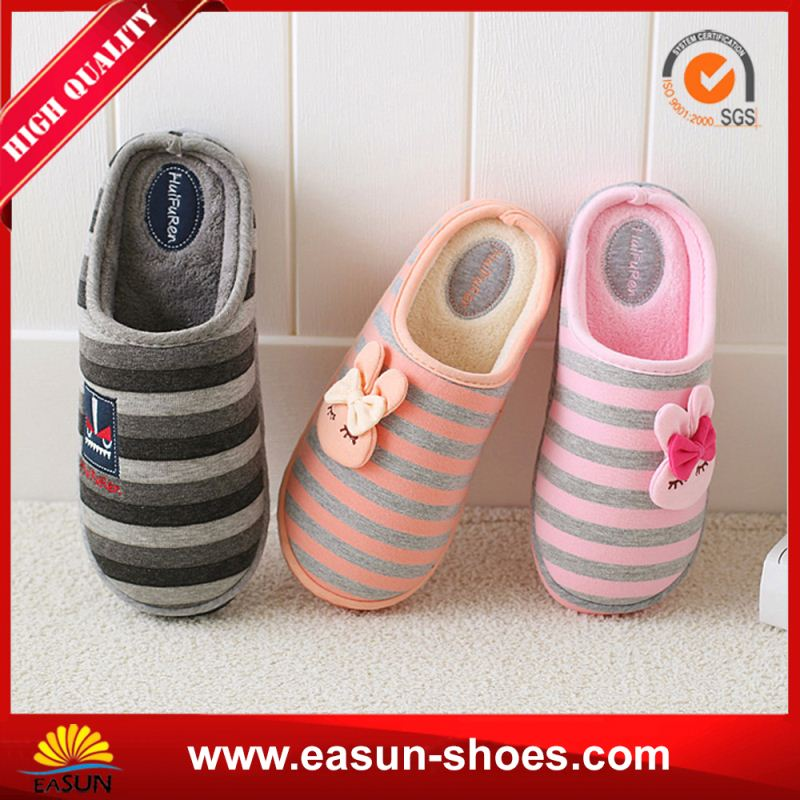 Wholesale good quality thick sole canvas slipper nake chines low moq indoor slipper