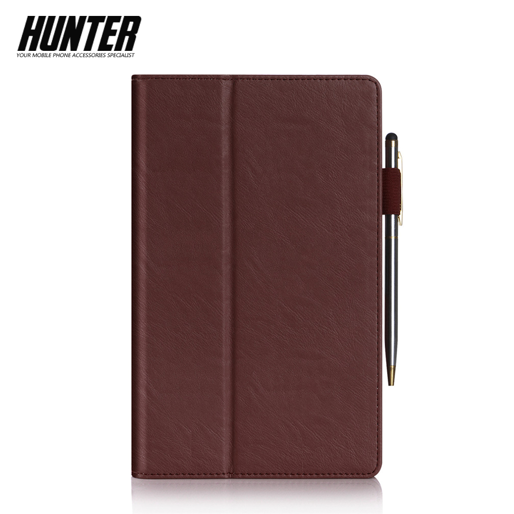 Brown PU Leather Wallet Case For 8 Inch Tablet