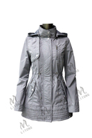 slim long sleeve double collar outerwear wind coat for girls ladies women