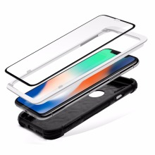 High quality 3D Curved edge tempered glass screen protector for iPhone X Full Cover 3 In 1 phone case tempered glass