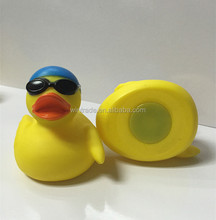 Sunglass yellow duck weighted swimming water toy