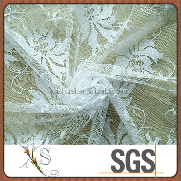 Alibaba China Gold Supplier Soft Jacquard Mesh Lace Fabric
