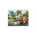 Children playground equipment outdoor playground slide plastic amusement park