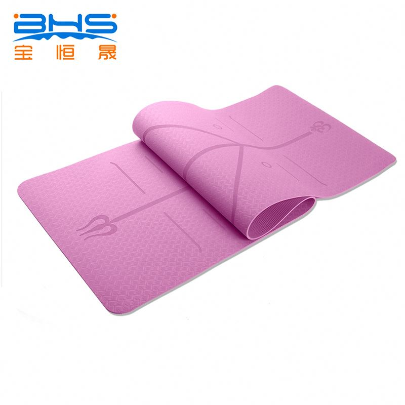 new fitness product 7mm yoga mat 72 inch long in tpe material