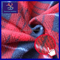 Polar fleece brushed 100 polyester knit fabric