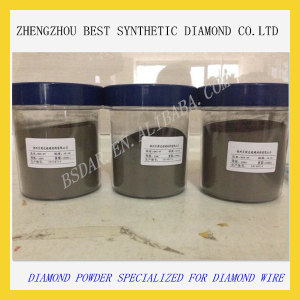 Diamond powder for wire for wire saw