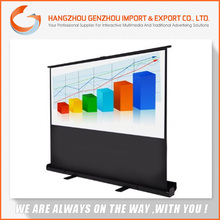 2015 Motorized120 inch floor stand projection screen / new type floor holographic pull up projection screen